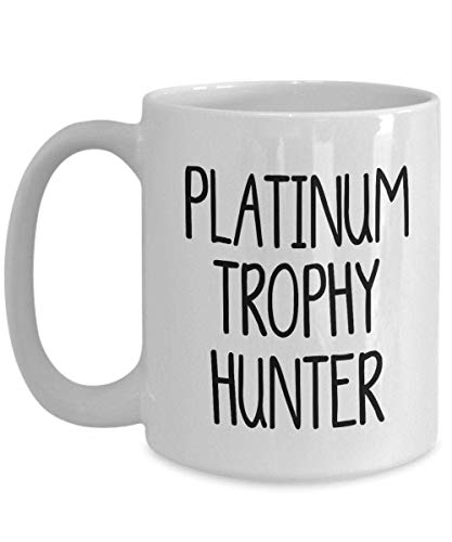 N\A Platinum Trophy Hunter Taza de Regalo para Jugador PS4 Achievement Collector Superior System Trophy