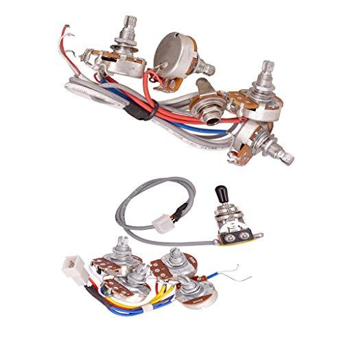 SM SunniMix Kit de Cableado de Circuito de Potenciómetros de Control de Volumen de Tono de 4 Piezas