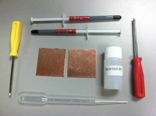 Playstation 3 PS3 Slim YLOD Shims Fix Repair Kit Thermal Paste Kester 951 Flux Tamper Security T8 & T10 torx screwdrivers