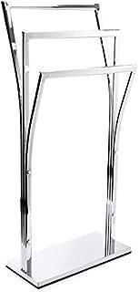MSV TOALLERO 3 Niveles DE Acero Cromado 41X18,5X87 CM, Plateado, 18.5x41x87 cm