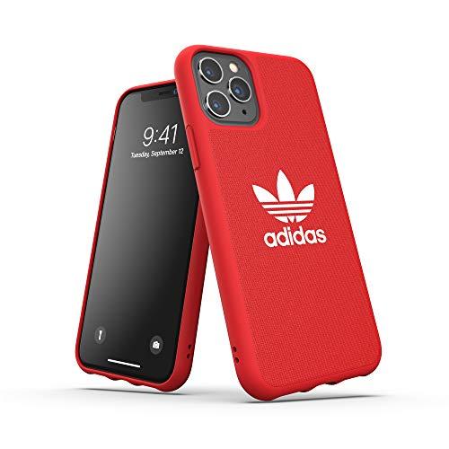 adidas Originals Adicolor - Carcasa Trasera para iPhone 11 Pro, Color Rojo