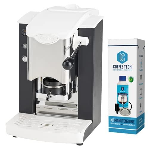 MACCHINA CAFFE A CIALDE IN CARTA ESE 44MM FABER SLOT INOX PLASTICHE BIANCHE (NERO) + KIT MANUTENZIONE