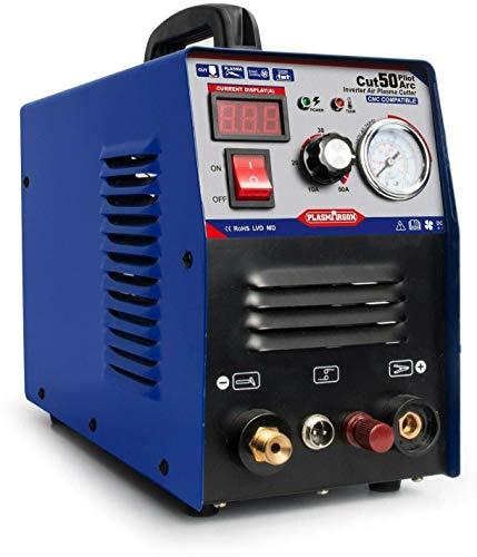 CUT55P プラズマカッター エアープラズマ切断機 インバーター デジタル切断機 100/200v兼用機 非接触切断 軽量 CNC工作機械で使用可能【送料無料 翌日出荷 】日本の倉庫、納期3-4日 (CUT-55P 200V)