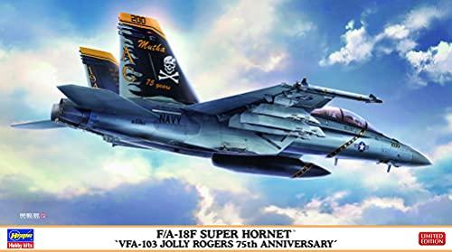 ハセガワ 1/72 アメリカ海軍 F/A-18F スーパーホーネット VFA-103 ジョリーロジャース 75周年記念 プラモデ...