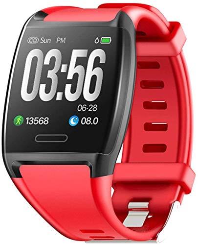 OH Smart Watch, Pantalla a Color de 1.3 Pulgadas, Seguimiento Deportivo Monitoreo de Fitness Pulsera de Deportes Ip67, para Android Y Ios clásico/Rojo