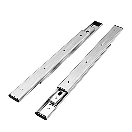 60kgs Ball Bearing Double Stack Telescopic Slide Oven Slide Without Plastic Parts (Color : Silver, Size : 600mm)