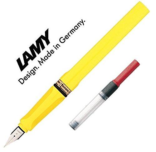 LAMY Füller SAFARI Füllhalter / Viele schöne Farben, im Set mit passendem Kolbenkonverter Lamy Z24 (Mit Konverter, Gelb (M)18)