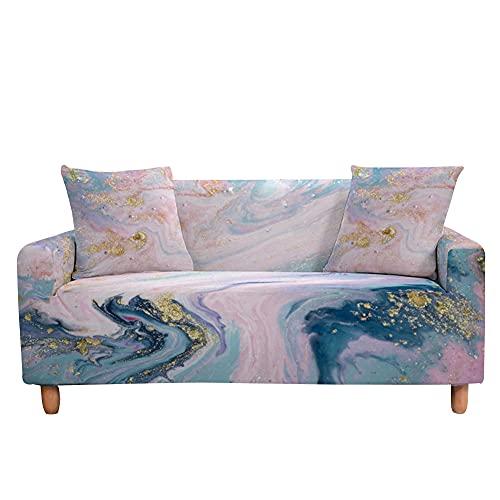 Highdi Funda de Sofá Elástica, 3D Color de Flujo Impresión Fundas para Sofá de 1/2/3/4 Plazas, Universal Funda Cubre Sofas Ajustables Protector Cubierta de Muebles (Morado Claro,1 plazas)