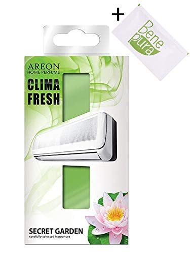 AREON Clima Fresh - Jardin Secret - Air Conditioner pièce Désodorisant - Home - Bureau - Restaurant - Centre de Fitness - Gym - Boutique - Home Parfum, Parfum de Longue durée