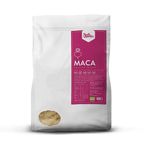 Maca Root Powder Peruvian Organic 1 Kg | SOUTH GARDEN | Mix of Red, Yellow and Black Peruvian Maca | Sports Supplement | Vegan | Gluten Free | Dairy Free | No added Sugar