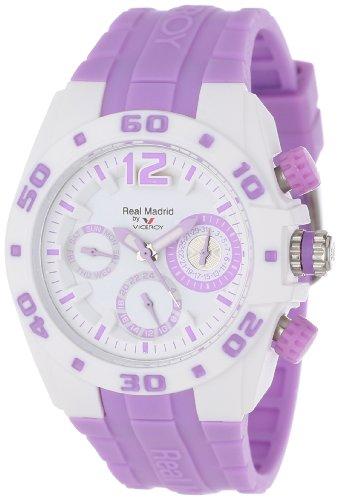 Viceroy Reloj Deportivo Real Madrid 432836-75 para Mujer de plástico con Doble Hora y Fecha