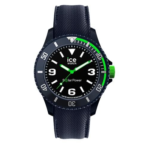 Ice-Watch Ice Sixty Nine Blue Green Solar, Reloj Azul para Hombre con Correa de Silicona, 019547, Medio