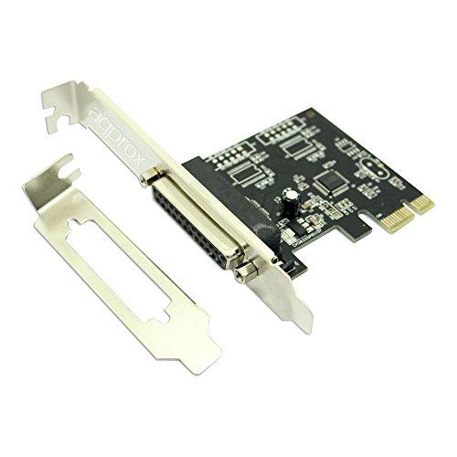 Approx APPPCIE1P - Tarjeta PCI-E de un Puerto Paralelo, Color Plateado y...