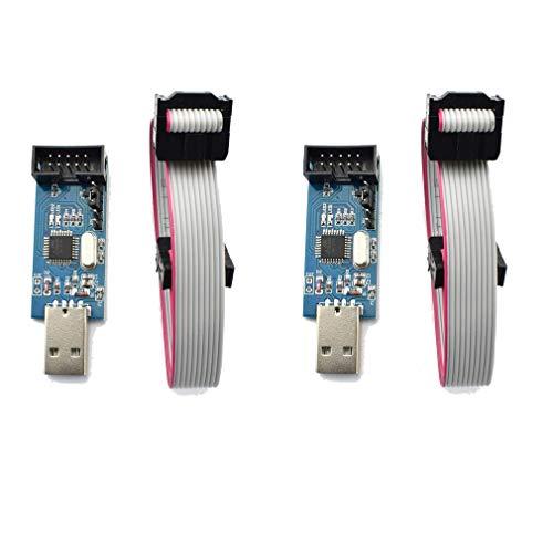 HiLetgo 2pcs 51 AVR ATMEGA8 Programmer USBasp USB ISP Downlo