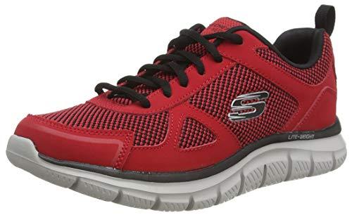 Skechers Herren Track BUCOLO Sports Shoes, Red, 46 EU