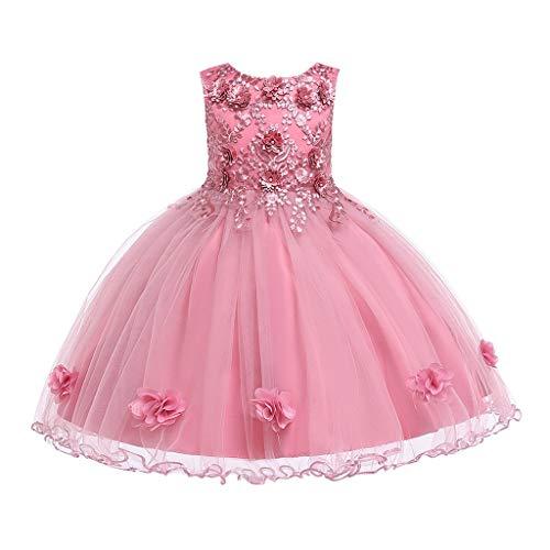 LuckyGirls Robe Fille Élégante Princesse Carnaval Robe Fête Enfants Filles Robes De Danse Mariée Casual Robes sans Manches