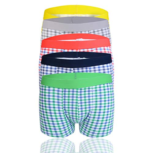 Vertvie Boxershorts voor heren, plaid print, met elastische band