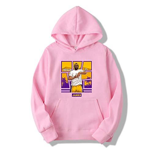 JX-PEP Unisex Lakers James Print Hooded Sweater Basketball Training Pak Pullover Hoodie Sweatshirt Lange mouwen met Kangoeroe Pocket