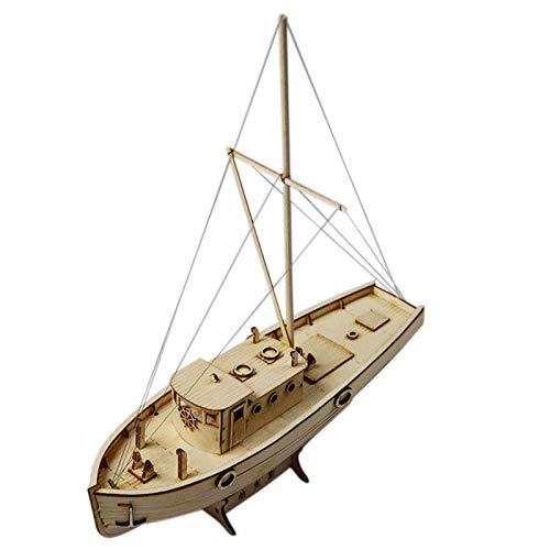Nrpfell Kit DIY Modelo de Montaje de Nave Barco de Vela de Madera 1:50 Escala Juguete de Decoración Regalo