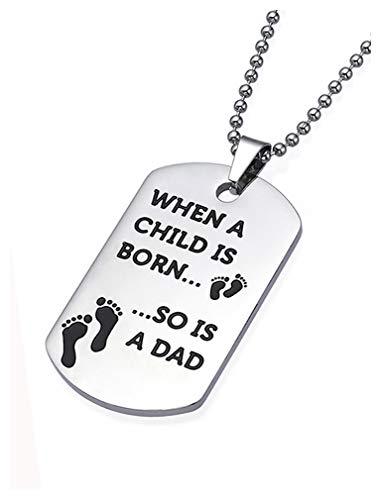 Tstars - Colgante de acero inoxidable para el día del padre, con caja de regalo
