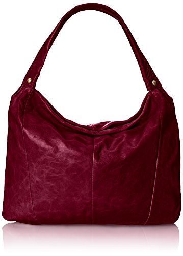 Red leather hobo bags