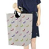 Cesto di vestiti sporchi Dormitorio Moda Creativa Scarpe col tacco alto Cesto della biancheria divertente Cesto della biancheria carino per ragazze adolescenti 11 X 12,6 X 22,7 pollici Tessuto Oxford