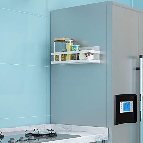 Yishelle Rejilla Lateral del Refrigerador Armario refrigerado Estante Lateral Frigorífico estantes for el hogar Cocina Baño Estante Frigorífico Multifuncional (Color : White, Size : A)