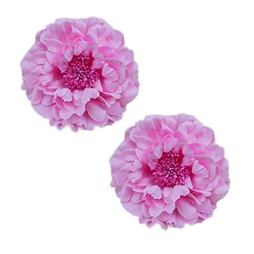 2PCS élégant fleur rose cheveux pin clip cheveux décoration pour dames