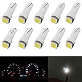 T5 - Bombilla LED para salpicadero (12 V, 1 SMD, 5050, sustituye a 74 37 286 18 27, 10 unidades), color blanco