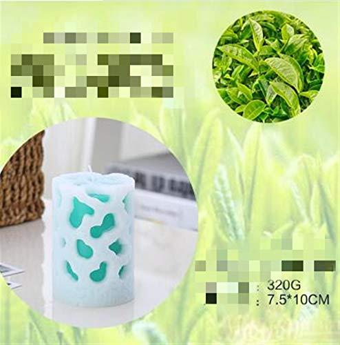 Hermosamente Vela de aromaterapia con fragancia sin humo velas con aroma a la columna cera de cera para cenar valentines suministros de fiesta para las mujeres, San Valentín, ( Color : Army Green )