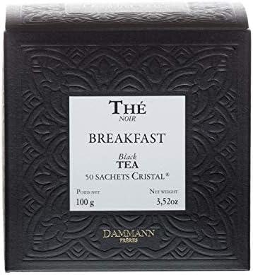 Pasticceria Passerini dal 1919 Dammann Breakfast - Té Negro Ideal desayunos, 50 bolsitas - Dammann Frères