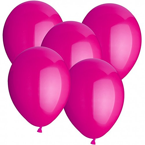 100 Luftballons Ø 30 cm Farbe frei wählbar Ballons Helium Luftballon (Pink)
