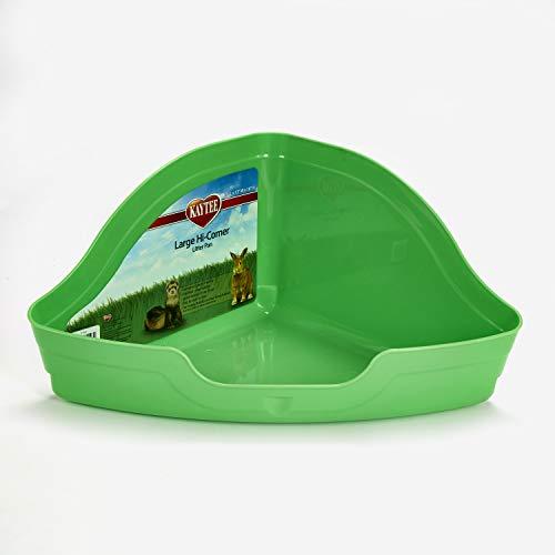 Kaytee Hi-Corner Litter Pan, Large, Assorted colors