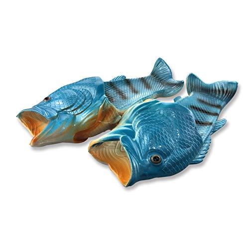 Uniqstore, ciabatte creative Tricky Fish a forma di pesce, da spiaggia, da uomo, Blu, 39/40 EU