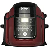 Ninja Foodi Pressure Cooker TenderCrisp Technology 8- Quart Pot Capacity Air Crisp Sear Sauté Bake Broil Steam Slow Cook Dehydrate All in One OP402 (Renewed) (Cinnamon)