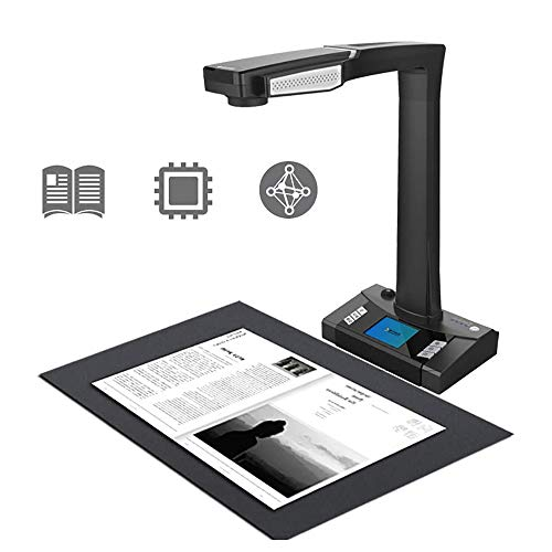 Book & Document Scanner, 16MP Portable Scanner, Auto-Flatten & Deskew Powered by AI Technology, Foldable & Portable, Capture Size A3, for Office Education Presentation