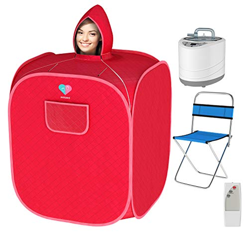 Juvenics Portable Personal Sauna with Steamer for Home - Sauna Machine for Weight Loss & Detox - Machine Tent with Steam Generator Foldable Chair