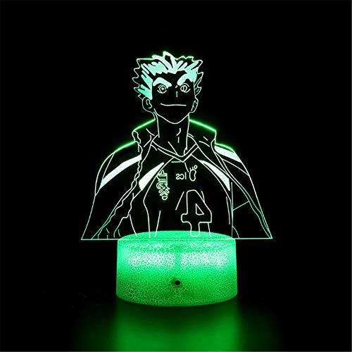 3D LED noche luz Haikyuu G USB 16 colores sensor lámpara de escritorio para deportes al aire libre colección amante