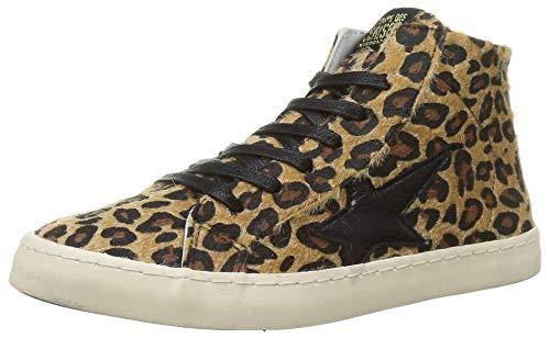 Le Temps des Cerises City High, Zapatillas Mujer, Leopardo, 37 EU