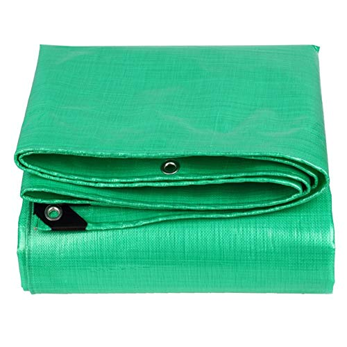 LYQZ Tarpaulin Waterproof Awning Woven Fabric Cover Up Goods Animal Nest Anti-wind Tarp -210g/m²,Thickness 0.38mm,Green Multipurpose (Size : 7 x 8m)