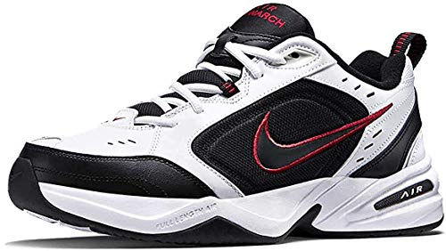 Nike Herren Air Monarch IV Fitnessschuhe, White Black Varsity Red, 44.5 EU