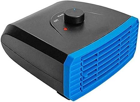 DKee Acondicionador de Aire 12V 150W 2 en 1 Calefacción Refrigeración Calentador portátil Coche Ventilador de refrigeración del Parabrisas Desempañador Antivaho for el Carro del Coche Van