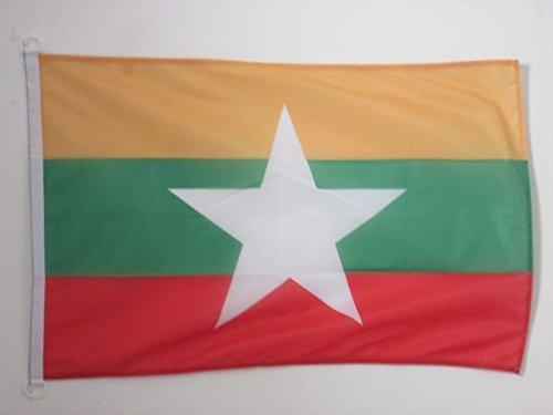 AZ FLAG Burma Nautical Flag 18'' x 12'' - Myanmar - Burmese Flags 30 x 45 cm - Banner 12x18 in for Boat