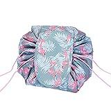 Drawstring Magic Cosmetic Pouch Bag, Lazy Drawstring Makeup Bag, Magic Makeup Pouch Waterproof Portable Organizer Magic Toiletry Bag for Travel