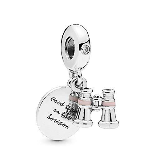 XIYANG DIY Passt Für Original Pandora Armbänder 925 Sterling Silber Herz Fernglas Dangle Charms Armband Frauen Metall Perlen Schmuck