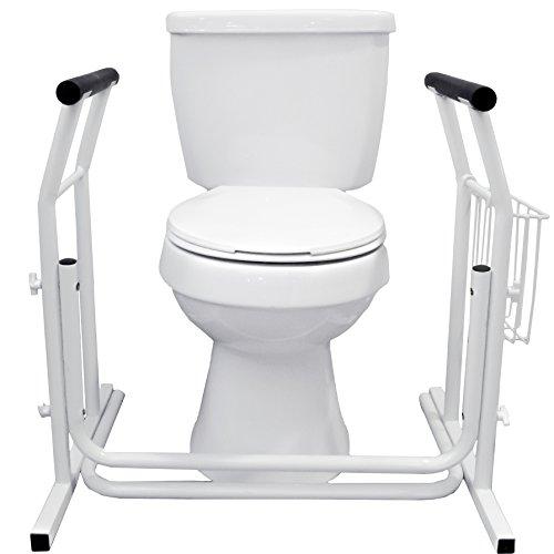 Vaunn Medical Bathroom Toilet Rail Grab Bar and Commode Safety Frame Handle