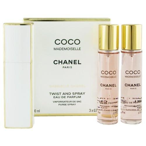 CHANEL Coco Mademoiselle Eau De Parfum Twist and Spray 3 x 20ml Women Giftset