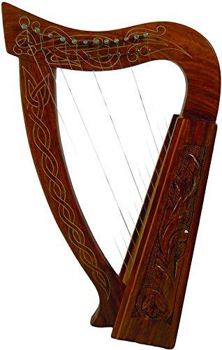20 Inch Tall Celtic Irish Harp 12 Strings Solid Wood Free Bag Strings Key