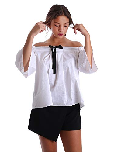 Fornarina Damen Cristal Shirt Hemd, Weiß (White 09), Small