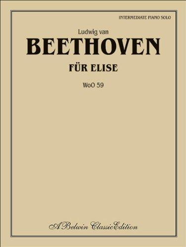 Beethoven - Für Elise (WoO 59) - Piano - Intermediate - Sheet Music